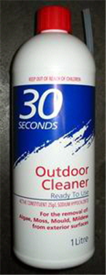 OUTDOOR CLEANER - RTU - 1 LITRE - 30 SECONDS