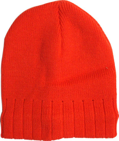 BEANIE - ORANGE - LINED