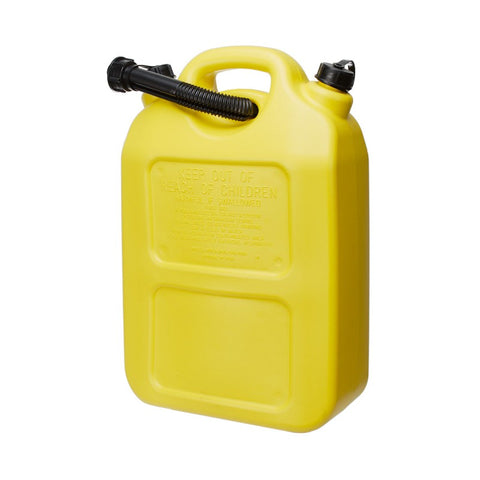 JERRY CAN - PLASTIC- 20 LITRES - YELLOW