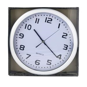 CLOCK - WALL CLOCK - WHITE - 40 x 40cm