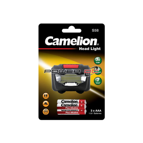 3 WATT COB  LED HEADLAMP - 120 LUMENS - CAMELION