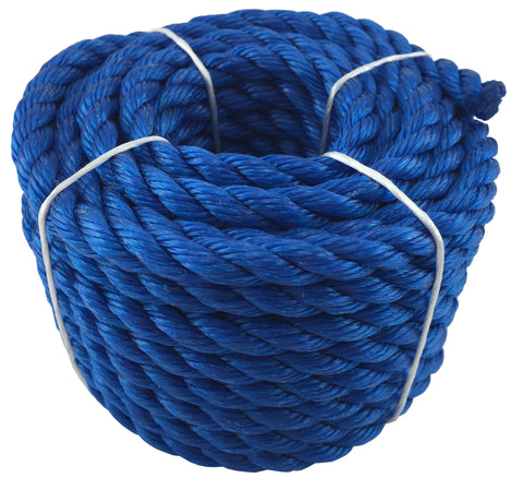 ROPE - POLYPROPYLENE  - 10mm x 10 Metres - BLUE