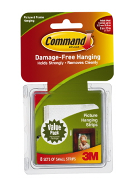 PICTURE HANGER STRIPS - SMALL - COMMAND