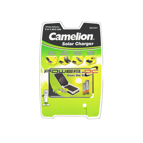 SOLAR CHARGER - FOR PHONE, LAPTOP, BATTERY  - CAMELION