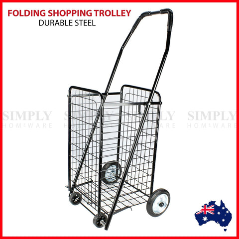 SHOPPING TROLLEY - FOLDING - METAL