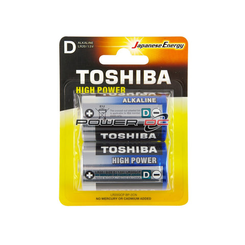 ALKALINE BATTERIES  - D - 2 PACK - TOSHIBA