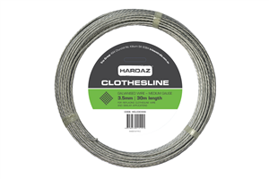 CLOTHESLINE - WIRE - GALVANISED - 3.5mm x 30 metres