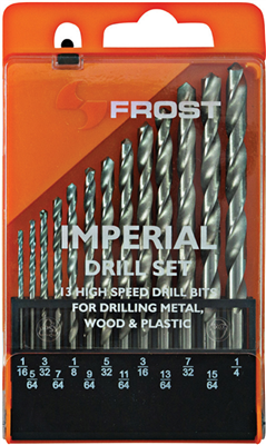DRILL BIT SET -  13Pc - HSS IMPERIAL - FROST