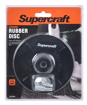 DISC - RUBBER BACKING - 125 x 6mm - SUPERCRAFT