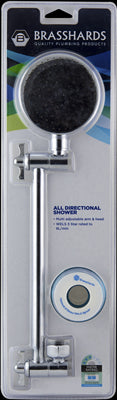 SHOWER HEAD & ARM - ALL DIRECT  - CHROME