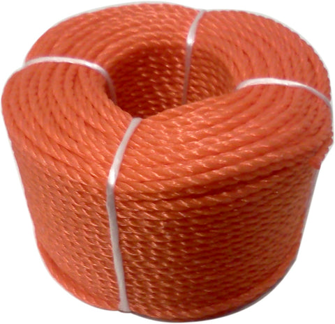 ROPE - POLYPROPYLENE  - 3mm x 60 Metres - ORANGE