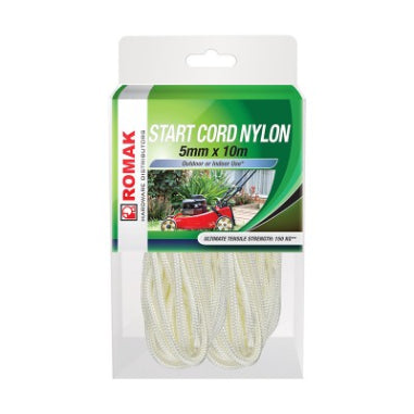 CORD - NYLON STARTER CORD  - BRAIDED - 5mm x 10m