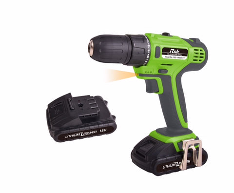 18V DRILL - ROK - GREEN/BLACK