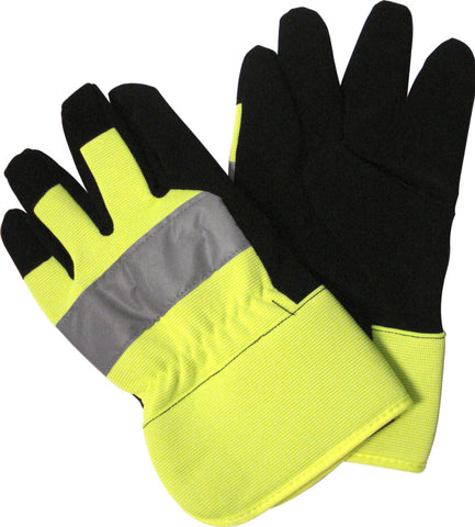 WORK GLOVE - REFLECTIVE HI-VIS -  LARGE
