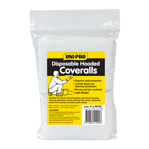 COVERALLS -  DISPOSABLE - X-LARGE - UNIPRO
