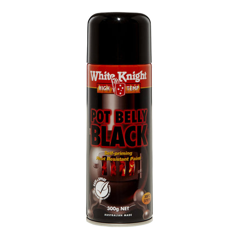 PAINT - POT BELLY BLACK SPRAY ON  - 250ML - RUSTGUARD