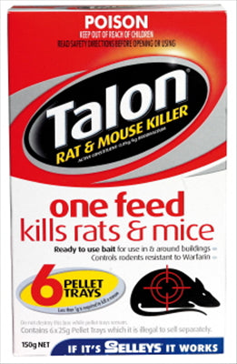 TALON - RAT & MOUSE KILLER -PELLET TRAYS - 6 TRAYS
