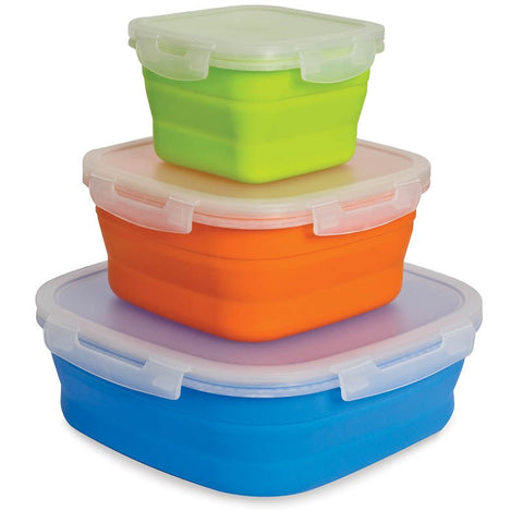 FOOD CONTAINER SET - LARGE  - 3 PACK POP UP