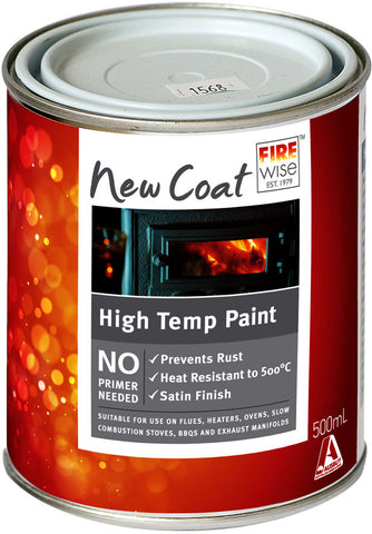 PAINT -HIGH TEMP POT BELLY BLACK BRUSH ON  - 500ML