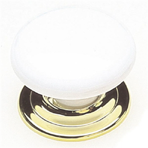CUPBOARD KNOB - WHITE GOLD - B/P - 41mm