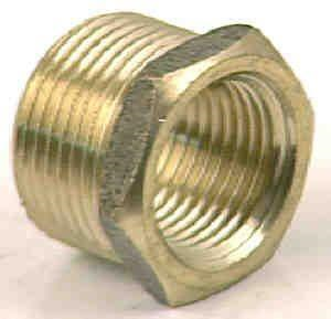 BUSH - BRASS REDUCING BUSH - 20mm x 15mm