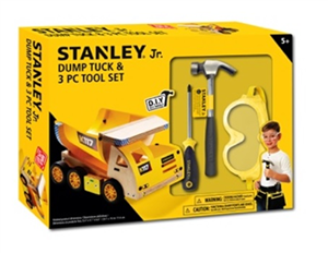 CHILDRENS DUMP TRUCK KIT &  TOOL SET - STANLEY