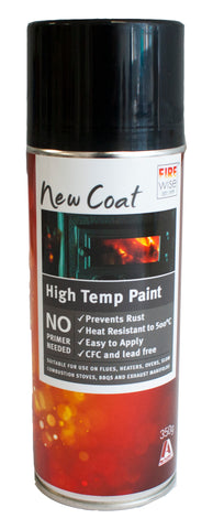 PAINT -HIGH TEMP POT BELLY BLACK SPRAY ON  - 350g
