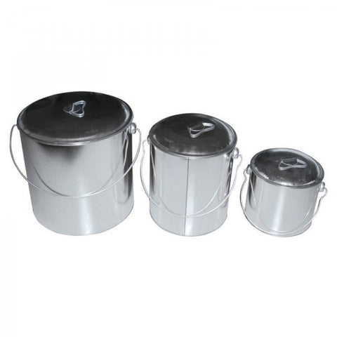 BILLY CAN  - 1 PIECE - TIN - 6 LITRE WITH LID