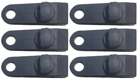TARP & MESH TIE DOWN CLIPS - 6 PIECE