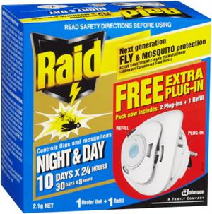 MOSQUITO  & FLY INSECTICIDE - DAY & NIGHT -  RAID