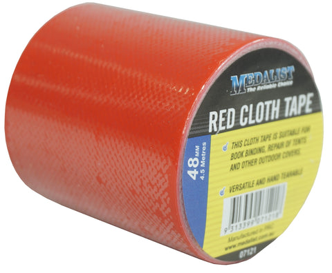 CLOTH/DUCT TAPE - RED -  48mm x 4.5m