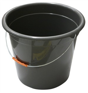 BUCKET - PLASTIC - 10 LITRES - VARIOUS COLOURS