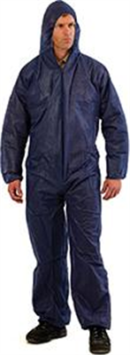 COVERALLS -  DISPOSABLE - LARGE BLUE - PROCHOICE