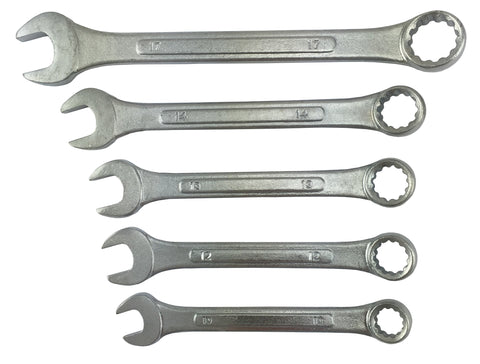 SPANNER  SET  - 5pce METRIC  COMBINATION SPANNER SET