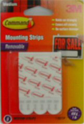 PICTURE HANGER  REFILL STRIPS - MEDIUM WHITE  - 3 PACK - COMMAND