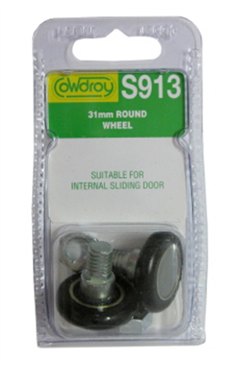 WHEELS -SLIDING DOOR -  ROUND - 31`mm - 2 PACK