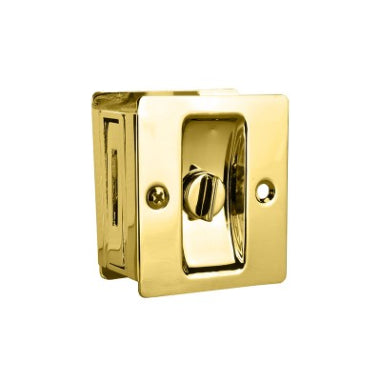 SLIDING DOOR LOCK - PRIVACY SET -  BRASS PLATED -  ROMAK