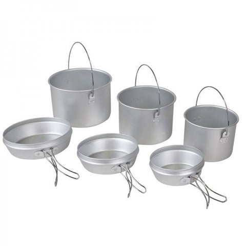 COOK SET - 6 PIECE ALUMINIUM