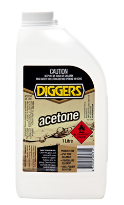 ACETONE - 1 Litre - DIGGERS