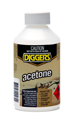 ACETONE - 250ml - DIGGERS