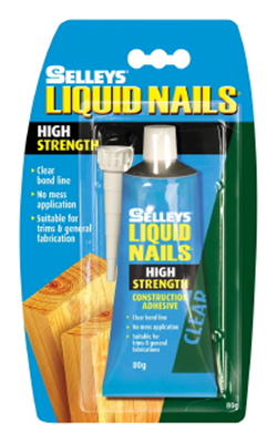 LIQUID NAILS - CLEAR - HIGH STRENGTH - 80gms