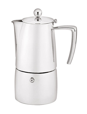 ESPRESSO COFFEE MAKER - ART DECO - TWIN WALL -  S/STEEL - 6 Cup