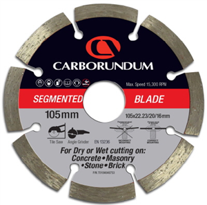 BLADE - DIAMOND SEGMENTED - 105 x 22/20/16mm