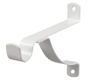 BRACKET  CURTAIN STAYED 100mm  WHITE   PK 2