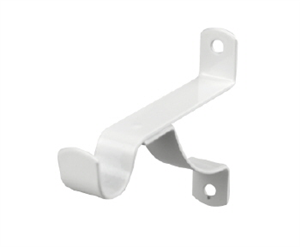 BRACKET CURTAIN STAYED 75mm WHITE PK2