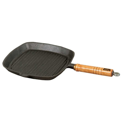 FRYPANS - WOODEN HANDLED - CAST IRON