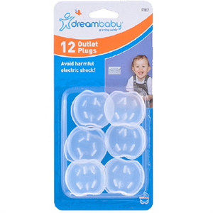 CHILD SAFETY OUTLET PLUGS- 12 PACK