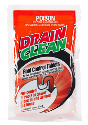 ROOT CONTROL TABLETS - DRAIN CLEAN - 4 PACK