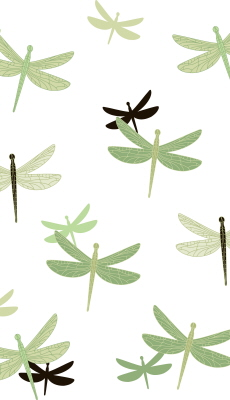SHOWER CURTAIN - DRAGONFLY