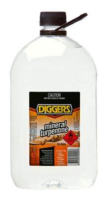 MINERAL TURPENTINE - 4 LITRES - DIGGERS